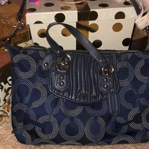 Coach blue beauty shoulder purse